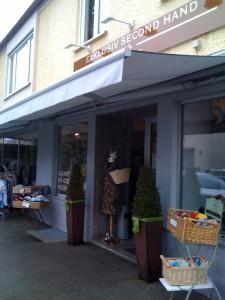 Außenansicht Second Hand and More Second Hand Laden in Stadtbergen