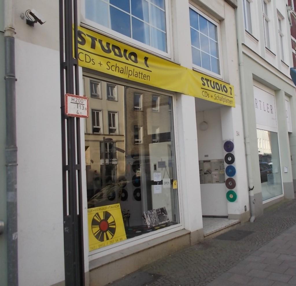 Studio 1 in Lübeck. CDs und gebrauchte Schalltplatten