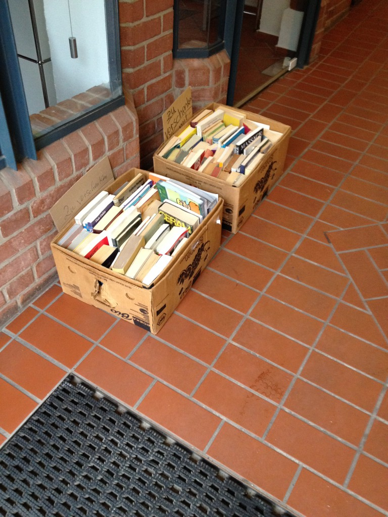 Kostenlose Bücher beim Bücherflohmarkt in Lübeck